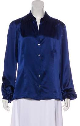Brooks Brothers Silk Button-Up Blouse