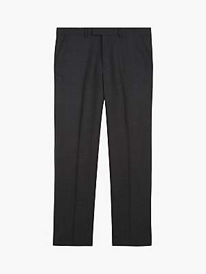 Motion Pick And Pick Wool Suit Trousers, Dark Grey