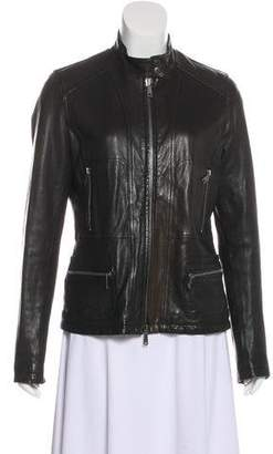 Vince Long Sleeve Leather Jacket