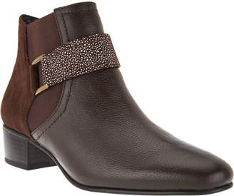 Logo By Lori Goldstein LOGO by Lori Goldstein Ankle Boots with Buckle Detail