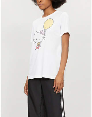 Hello Kitty CHINTI & PARKER X Balloon-motif cotton-jersey T-shirt