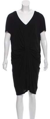 Diane von Furstenberg Draped Short Sleeve Dress