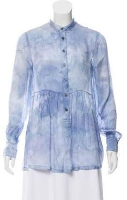 Raquel Allegra Silk Tie-Dye Blouse