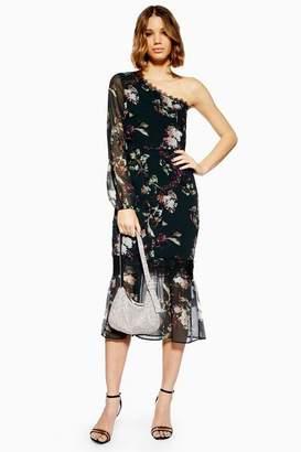 Topshop **One Shoulder Midi Dress by Hope & Ivy