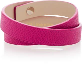 Valextra Double Wrap Leather Bracelet