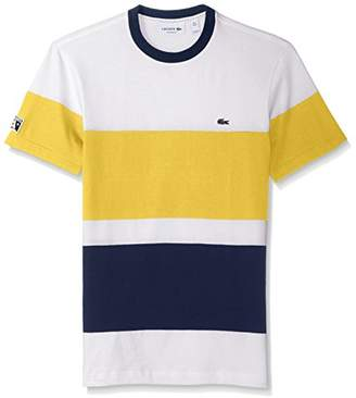 Lacoste Men's Short Sleeve Color Block T