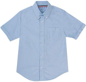 French Toast Boys 4-20 Short Sleeve Uniform Oxford Dress Shirt- Regular & Husky