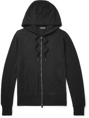 Tom Ford Cotton, Silk And Cashmere-Blend Zip-Up Hoodie