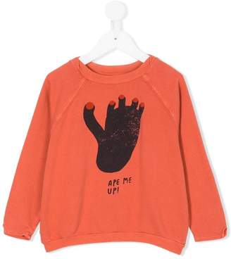 Bobo Choses foot print sweatshirt