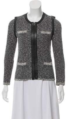 Rag & Bone Leather-Trimmed Tweed Jacket