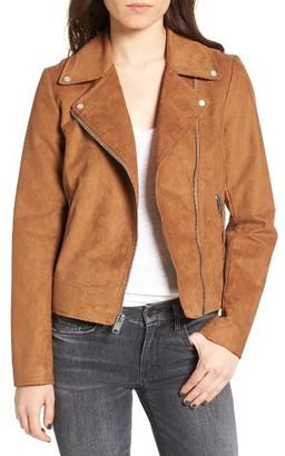 Women's Andrew Marc Farryn Side Lace Faux Suede Jacket $150 thestylecure.com