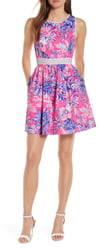 Lilly Pulitzer Alivia Eyelet Fit & Flare Dress
