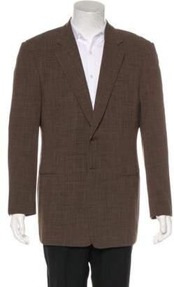 Giorgio Armani Plaid Wool Blazer