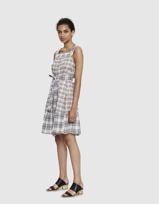 Elsy Farrow Plaid Pinafore Dress