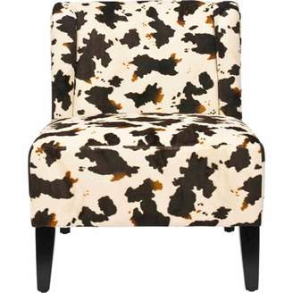 Safavieh Ashby Birch Polyester Upholstery Chair, Cow