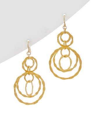 Devon Leigh 18K Plated & 14K Fill Drop Earrings