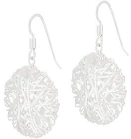 UltraFine Silver Wire Wrapped Drop Earrings