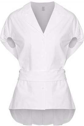 Rosie Assoulin Tie-Back Cotton-Poplin Shirt