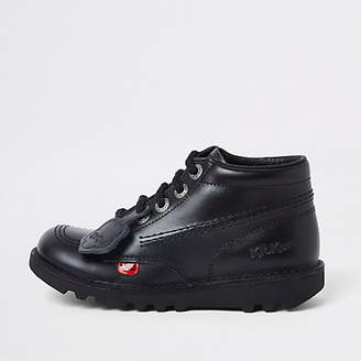 Kickers black lace-up boots