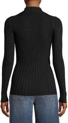 ATM Anthony Thomas Melillo Long-Sleeve Ribbed Turtleneck Sweater