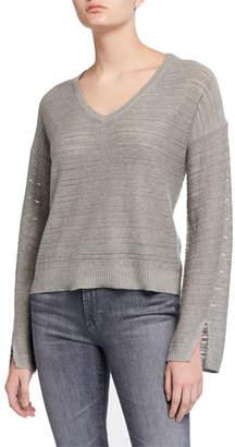 Splendid Hermosa Heathered V-Neck Pullover