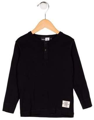 Molo Boys' Knit Long Sleeve Shirt