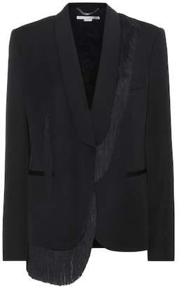 Stella McCartney Fringed wool blazer