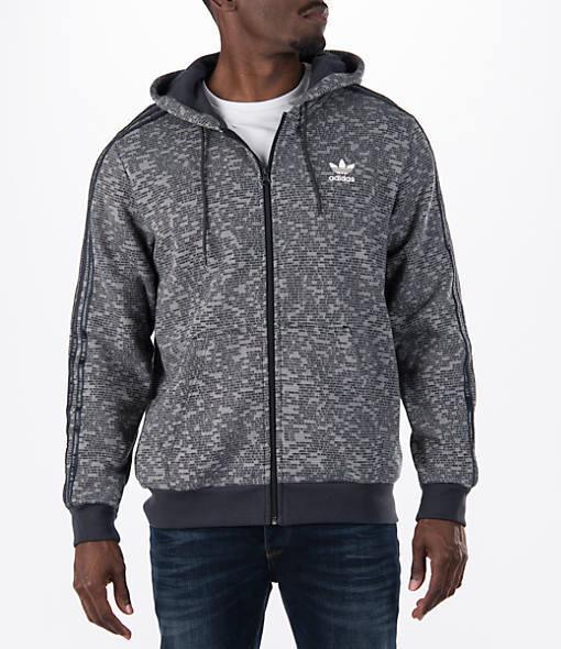 Adidas Men's Originals Essentials Allover Print Full-Zip Hoodie