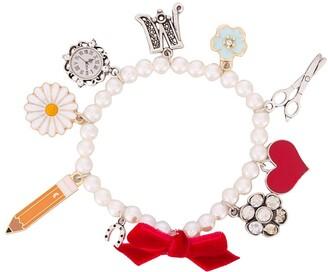 MonnaLisa embellished charm bracelet