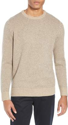 J.Crew Rugged Bird's Eye Merino Wool Blend Sweater