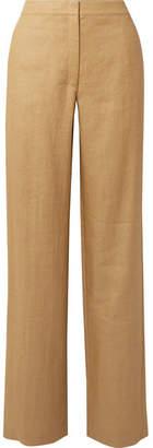 Theory Twill Wide-leg Pants - Beige