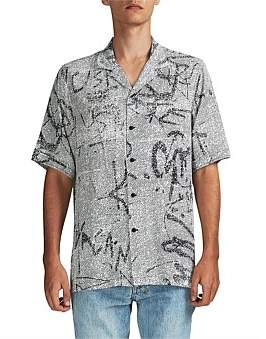 Ksubi Scribbles Resort Ss Shirt Black