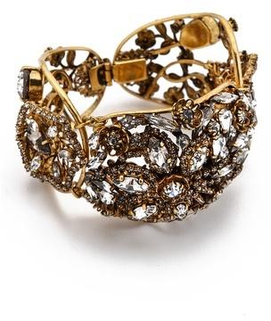 Erickson Beamon Heart Of Gold Bracelet