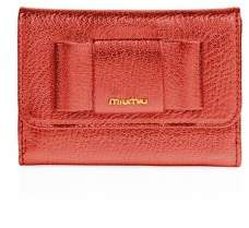 Miu Miu Miu Miu Madras Bow Metallic Leather Flap Wallet