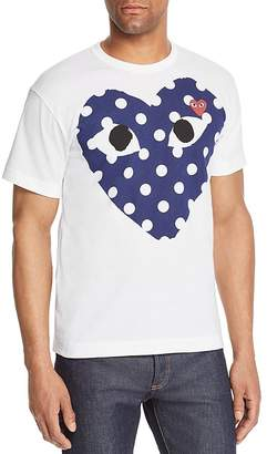 Comme des Garcons Polka-Dot Heart Graphic Tee