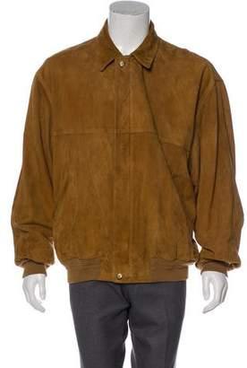 Fendi Suede Collared Jacket