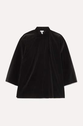 Comme des Garcons Cotton-velvet Blouse - Black