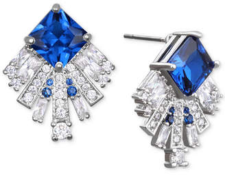 Badgley Mischka Square Crystal Fan Drop Earrings