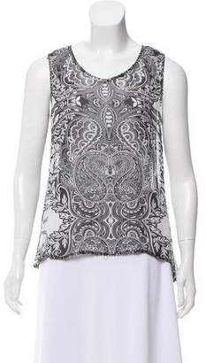 Alberto Makali Printed Sleeveless Top
