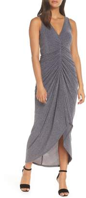 Vince Camuto Ruched Glitter Knit Gown