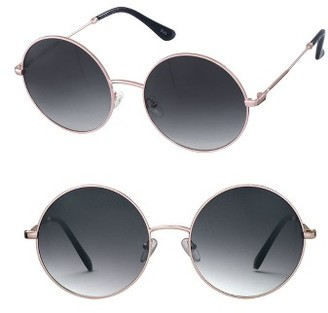 Women's Perverse Janis 59Mm Round Sunglasses - Gold/ Black $50 thestylecure.com