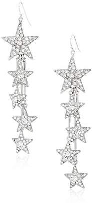 Swarovski Ben-Amun Jewelry Rock Star Crystal Drop Fish Hook Drop Earrings