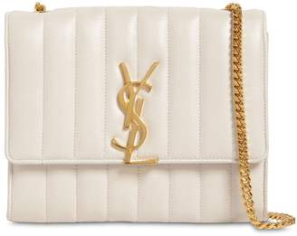 Saint Laurent Vicky Quilted Leather Chain Wallet Bag