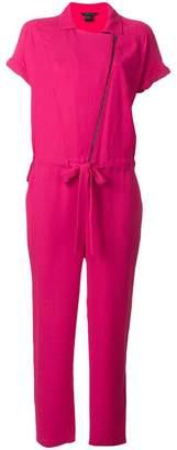 Armani Exchange asymmetric drawstring waist jumpsuit