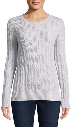 ST. JOHN'S BAY Long Sleeve Crew Neck Pullover Sweater