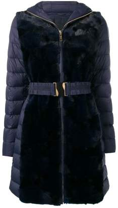 Liska mink fur hooded coat