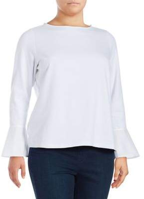 Lord & Taylor Plus Bell-Sleeve Blouse