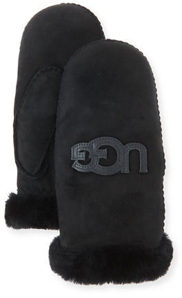 UGG UGG Carry Forward Heritage Logo Mittens, Black