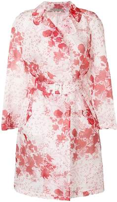 Ermanno Scervino sheer floral print trench