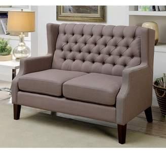 Furniture of America Preston Contemporary Loveseat, Brown